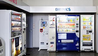 尾崎かまぼこ館 自動販売機コーナー写真