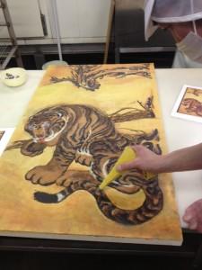 細工『虎』作業風景